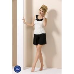 Pyjama short noir et blanc