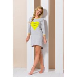 Pyjama Yes gris et jaune