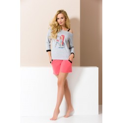 Short coral pyjamas