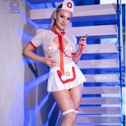 Costume infirmiere CR-4365 Chilirose grossiste De Bas En Haut Créations