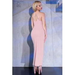 Long light pink beach dress