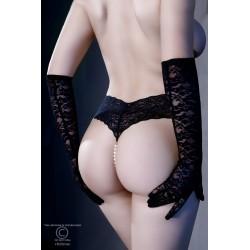 Black lace thong and mini vibrator CR-4395 Chiliros wholesaler De Bas En Haut Créations