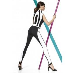 Legging haute qualité noir et blanc 200 deniers