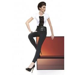 Legging large ceinture effet cuir à boutons