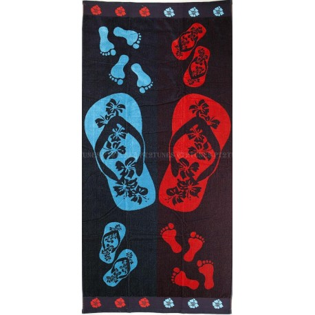Flip flops beach towel wholesaler DBH Créations