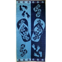Flip flops beach towel