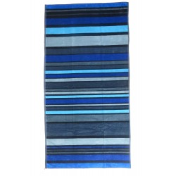 Blue and black striped beach towel wholesaler DBH Créations