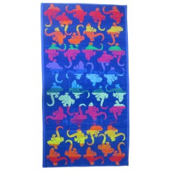 Multicolor salamander beach towel wholesaler DBH Créations