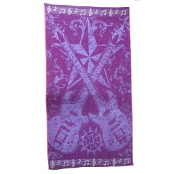 Purple guitar beach towel wholesaler DBH Créations