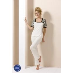 Pyjama blanc et noir