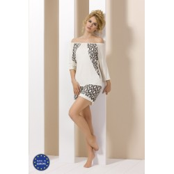 Pyjama short blanc et noir