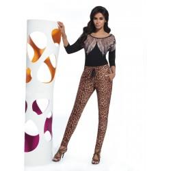 Alisha pantalon léopard Bas Bleu grossiste DBH Creations