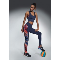 Rainbow blue sport legging Bas Bleu wholesaler DBH Créations