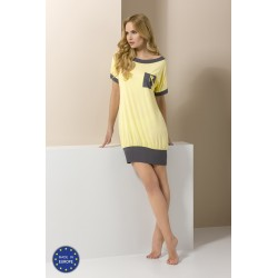 Short yellow and grey nightdress